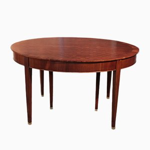 Vintage Directoire Style Mahogany Veneer Dining Table