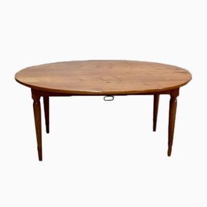 Large Antique Oval Extendable Blonde Ash Extendable Dining Table