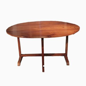 19th Century Cherrywood Winemakers Table