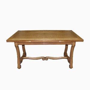 Vintage Renaissance Style Oak Dining Table