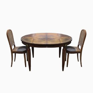 Vintage Art Deco Mahogany Dining Table