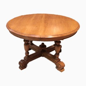 Vintage Oak Pedestal Table
