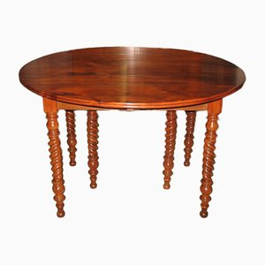 Round Antique Honduras Mahogany Dining Table from La Rochelle