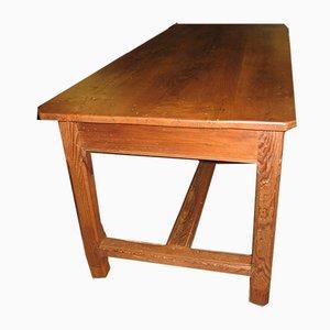 Tavolo da fattoria in legno di castagno, XIX secolo