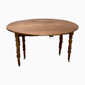 Antique Cherry Wood Extendable Dining Table