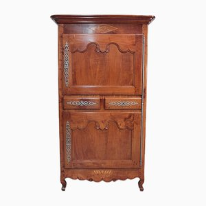 Antique Louis XV Style Cherrywood Cabinet