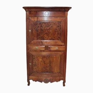 Mobiletto in stile Luigi XV antico in legno di frassino e betulla