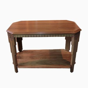 Vintage Art Deco Blond Mahogany Coffee Table