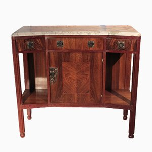 Vintage Art Deco Rosewood Veneer and Marble Buffet