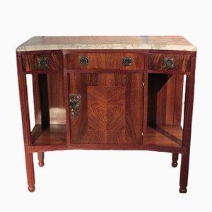 Vintage Art Deco Rosewood Veneer and Marble Buffet