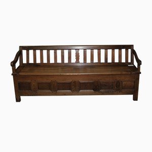Large 19th Century Chestnut Bench