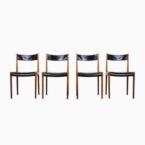 Rosewood Dining Chairs from Lübke, 1960s, Set of 4