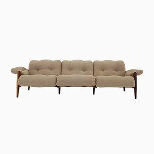 Drei-Sitzer Sofa mit Gestell aus Palisander von Sergio Rodrigues, 1970er
