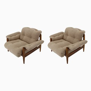 Rosewood Lounge Chairs by Sergio Rodrigues, 1970s, Set of 2