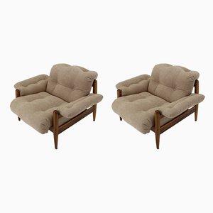 Sessel mit Gestell aus Palisander, 1970er, 2er Set