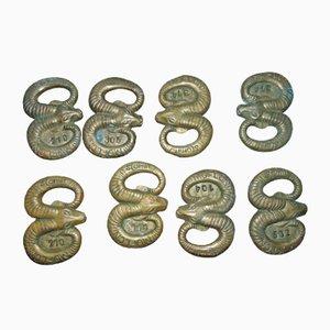 Brass Opener Key from Ustroń Stomil Mouflon, 1960s, Set of 8