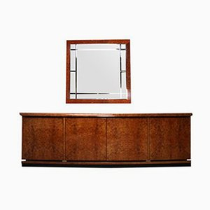 Vintage Sideboard and Mirror by GDM Design, Set of 2