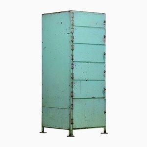 Mobiletto vintage industriale in ferro, anni '60
