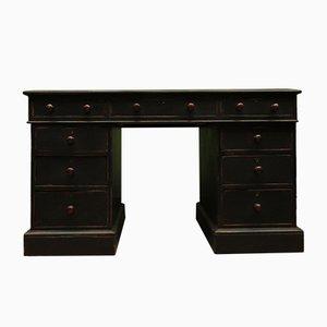 Antiker schwarz lackierter Schreibtisch