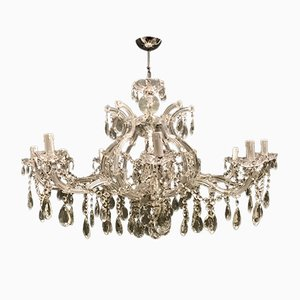 Large Italian Crystal Chandelier, 1940s