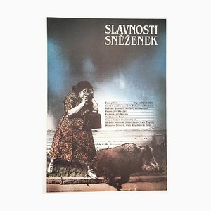 The Snowdrop Festival Movie Poster by Zdeněk Ziegler, 1984
