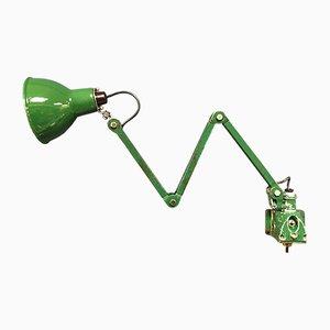Grüne industrielle Vintage Wandlampe von EDL, 1940er