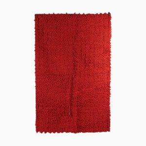 Einfarbiger Vintage Teppich
