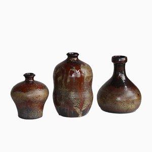 Vases Mid-Century Modernes par Elmar & Elke Kubicek pour Kubicek, années 60, Set de 3