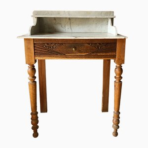 French Marble Vanity Table, 1920s
