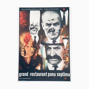 Póster de la película The Big Restaurant vintage de Josef Vyleťal