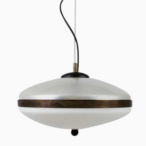Italienische Deckenlampe aus Plexiglas, 1960er