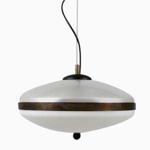 Lámpara de techo italiana de plexiglás, años 60