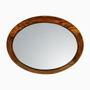 English Art Deco Oak Mirror, 1920s