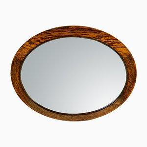 English Art Deco Oak Mirror, 1920s