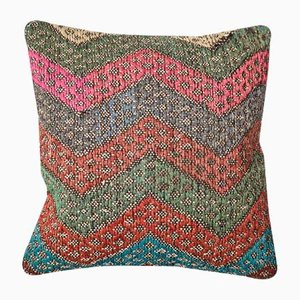 Multicolored Kilim Cushion Cover by Zencef Contemporary