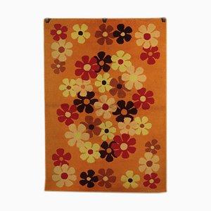 Vintage Teppich mit Blumenmotiven