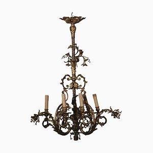 Antiker italienischer Kronleuchter aus Bronze