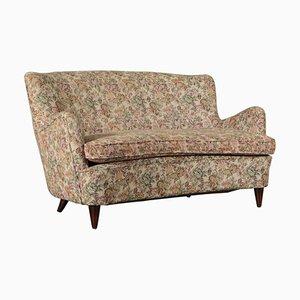 Italienisches 2-Sitzer Sofa mit Stoffbezug, 1950er