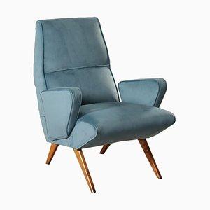 Italienischer Sessel mit Stoffbezug, 1950er