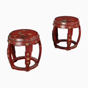 Antique Bar Stools, Set of 2
