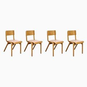 Esszimmerstühle aus Holz von James Leonard für ESA, 1950er, 4er Set
