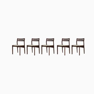 Vintage Danish Dining Chairs, Set of 5