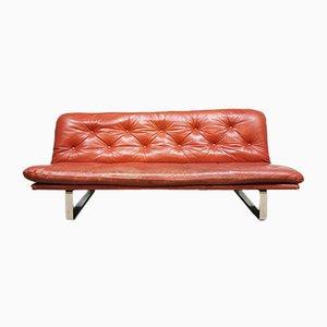 Canapé Vintage en Cuir par Kho Liang Ie pour Artifort, Pays-Bas, années 60