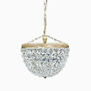 Italian Crystal Glass Chandelier, 1930s