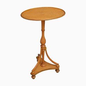 Table d'Appoint Ancienne Victorienne en Bois de Satin