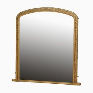 Specchio vittoriano antico in legno dorato