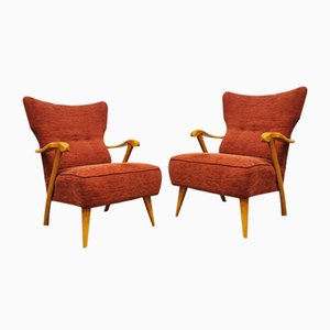 Mid-Century Dutch Lounge Chairs by A. A. Patijn for Zijlstra Joure, 1950s, Set of 2