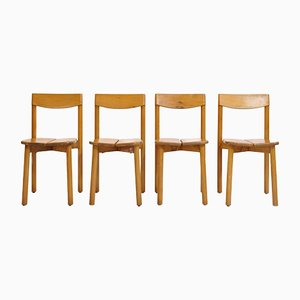 Vintage Dining Chairs by Pierre Gautier Delaye for Vergnères, 1950s, Set of 4