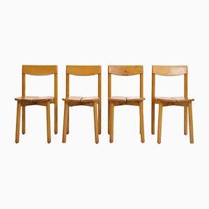 Vintage Esszimmerstühle von Pierre Gautier Delaye für Vergnères, 1950er, 4er Set