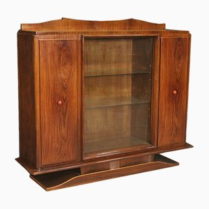 Vintage Italian Rosewood Display Cabinet, 1950s